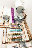 stock photo of boiler  - independent heating system in boiler - JPG