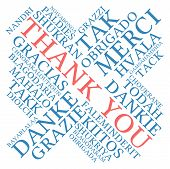 picture of thankful  - Thank You international word cloud on a white background - JPG