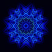 foto of cosmic  - The Abstract cosmic star snowflake - JPG