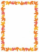 picture of canada maple leaf  - Autumn frame with colorful maple leaves on whte background - JPG