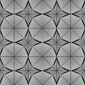 foto of octagon  - Design seamless monochrome octagon pattern - JPG