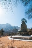 pic of seoraksan  - Buddha in the Sinheungsa Temple at Seoraksan National Park South Korea - JPG