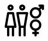 stock photo of gender  - Male and female sign - JPG