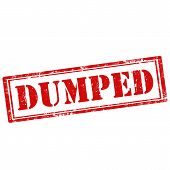 stock photo of dump  - Grunge rubber stamp with text Dumped - JPG