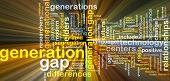 foto of gap  - Background text pattern concept wordcloud illustration of generation gap glowing light - JPG