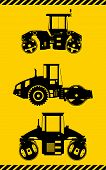picture of heavy equipment  - Detailed illustration of compactors - JPG