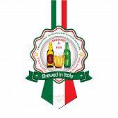 image of beer mug  - Brewed in Italy  - JPG