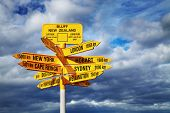 stock photo of south-pole  - Signpost in the Stirling Point - JPG