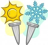 image of olympic-games  - Illustration of Torches for Summer and Winter Games - JPG