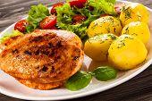 picture of fried chicken  - Fried chicken fillet - JPG