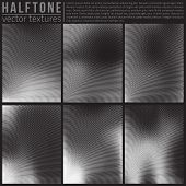 stock photo of analogy  - Vector halphtone textures set - JPG