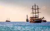 picture of cleopatra  - Ships on the beach of Cleopatra - JPG