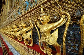 picture of garuda  - Garuda in Wat Phra Kaew Grand Palace of Thailand to find - JPG