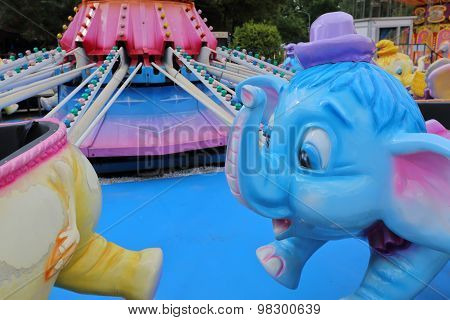 Carousel with elephants