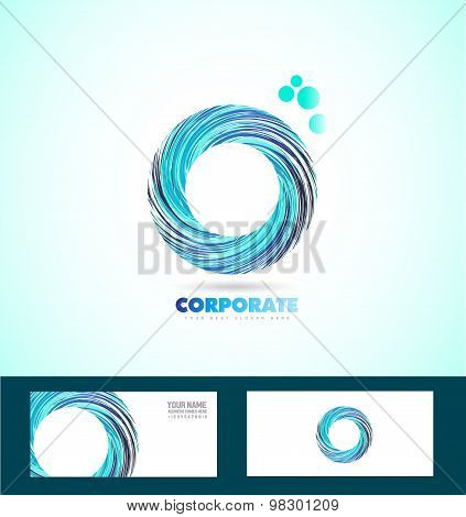Corporate Circle Business Logo Whirlpool Rotation
