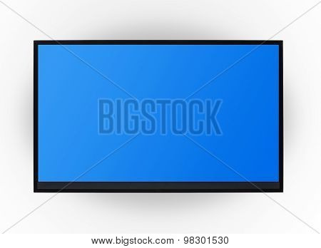 Led Tv Hanging On The Wall Background