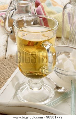 Hot Rum Toddy In A Glass
