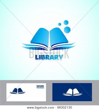 Library Book Logo Icon