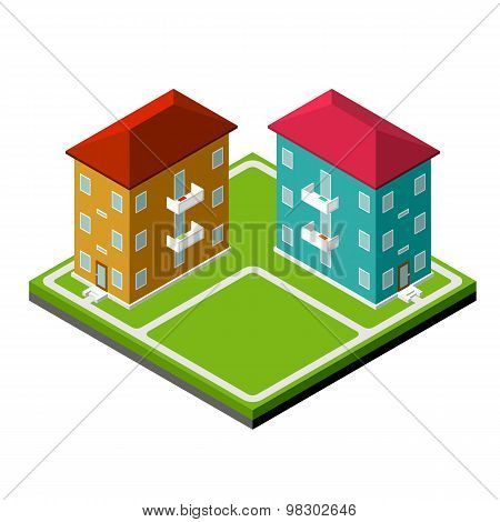 Two Isometric Buildings