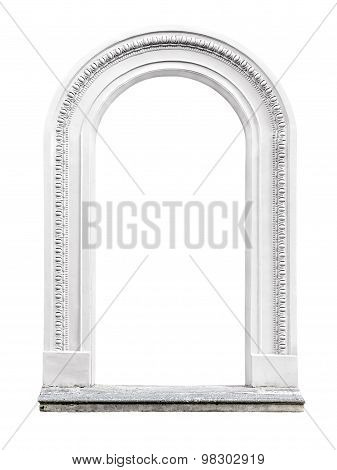 Stone Arch Isolated On White Background