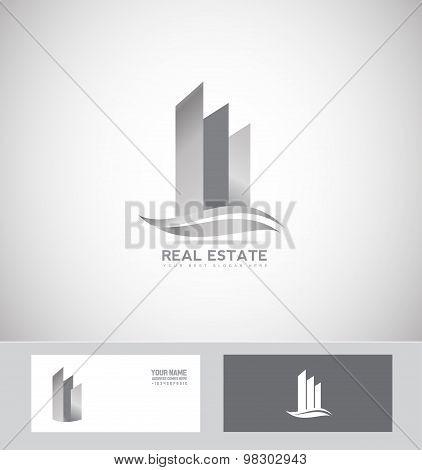 Grey Real Estate Logo Icon