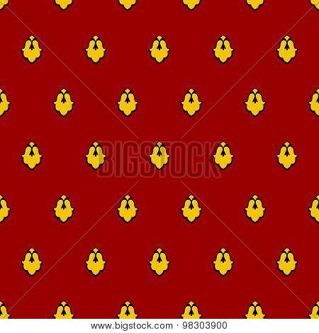 Royal Seamless Pattern For Mantle. Vector Illustration For King