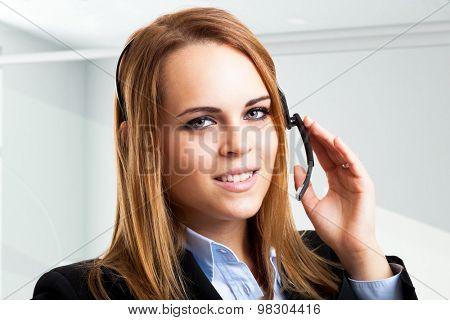 Portrait of a friendly customer representative