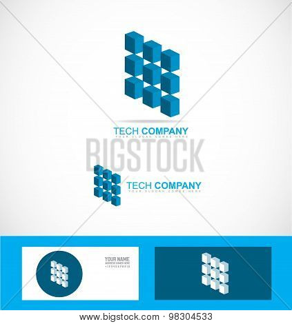 Tech Technology Company Logo Symbol Chip