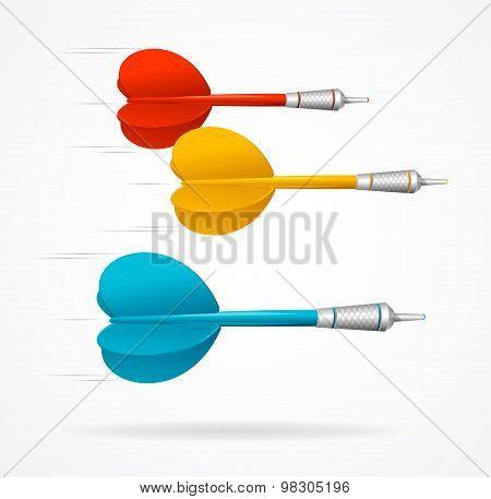 Darts Fly Vector