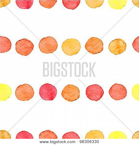 Seamless Watercolor Dots Pattern