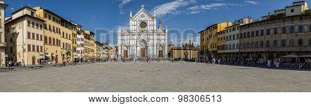 Piazza Santa Croce, Florence. Panoramic