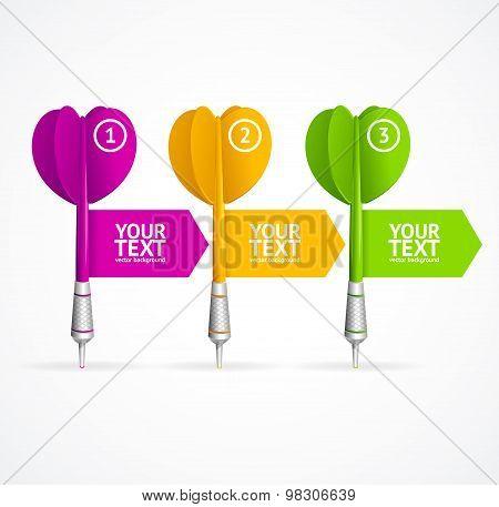 Set of darts option banner. Vector