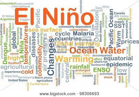 Background concept wordcloud illustration of El Ni�±o