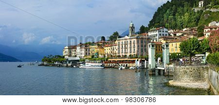beautiful Lago di Como - panorama of Bellagio