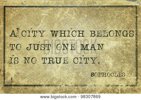 True City Sophocles