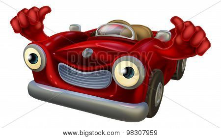 Thumbs Up Cartoon Car