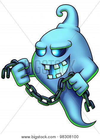 Ghost Cartoon Character Digital Painting