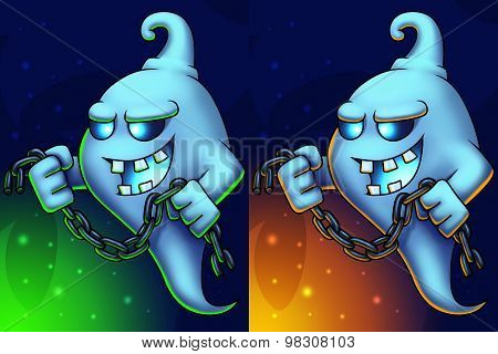 Ghost Cartoon Character Illustration
