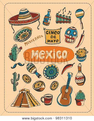 Doodle about Mexico.