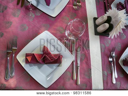 Banquet Table Setting. Fragment