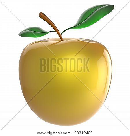 Yellow Apple Nutrition Fruit Antioxidant Fresh Ripe Exotic Food