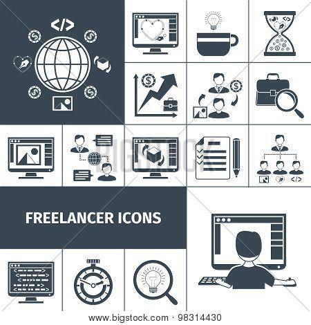 Freelancer Icons Black