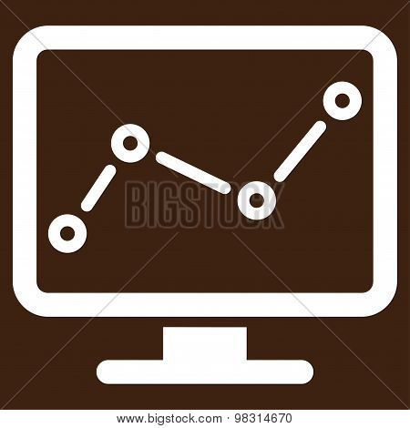 Monitoring icon from Business Bicolor Set
