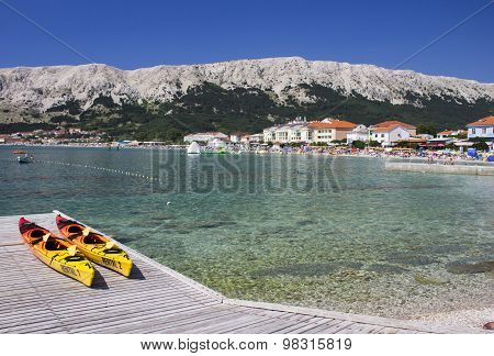 Baska landscape Croatia