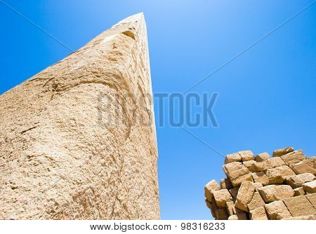 Obelisk in the temple of Karnak, Luxor, Egypt