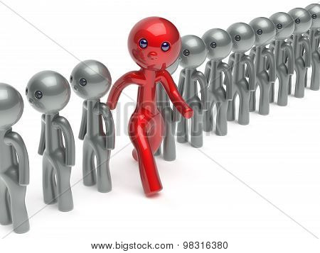 Man Different Stand Out From The Crowd Individuality Character