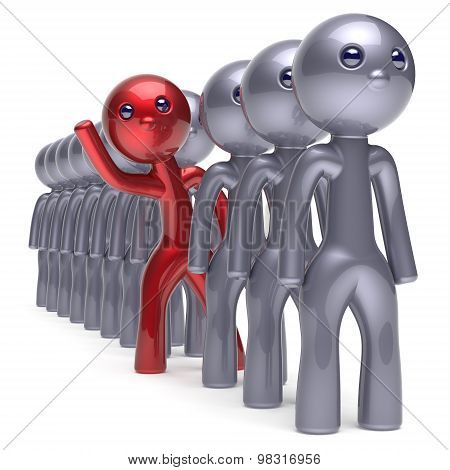Individuality Man Character Stand Out From The Crowd Icon
