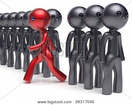 Different Unique People Stand Out From The Crowd Individuality