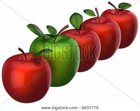 Fresh delicious apples. Leadership concept (Hi-Res)