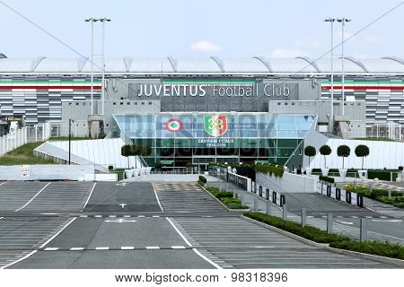 View of the Juventus stadium in Torino, Italy